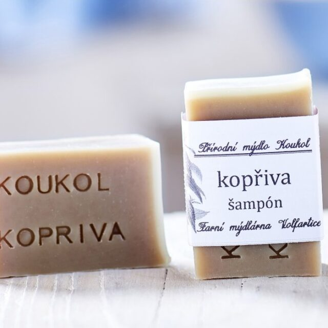 české mýdlo - tuhy šampon s kopřivou
