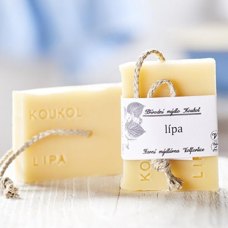 přírodní české mýdlo z místních surovin lípové