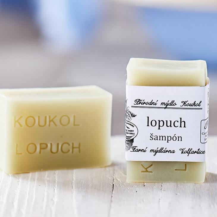 přírodní české mýdlo z místních surovin lopuch šampon