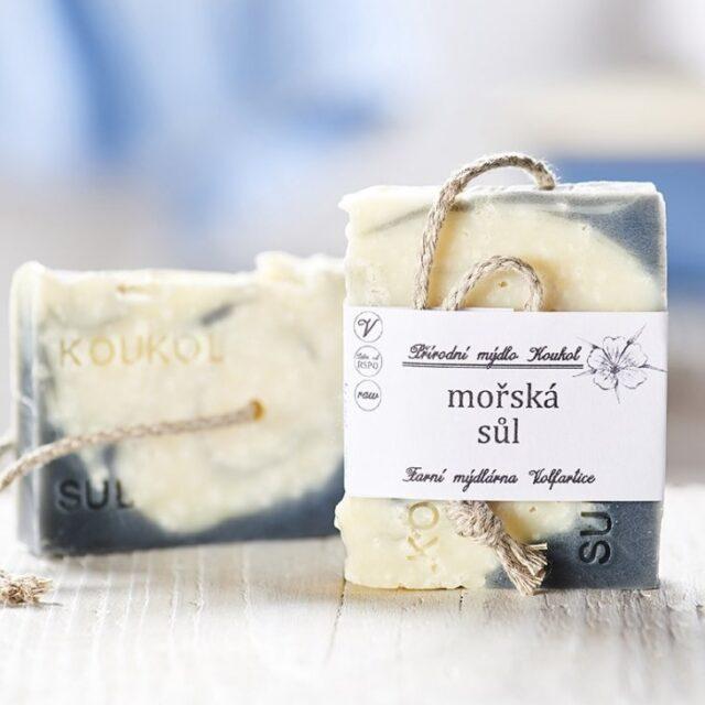 přírodní české mýdlo mořská sůl