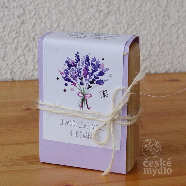 české mýdlo levandulové s hedvábím