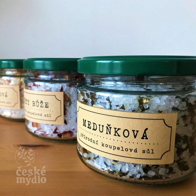 České mýdlo - koupelová sůl Nežárka s meduňkou a eukalyptem
