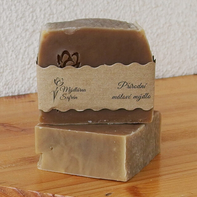 cešké mýdlo - přírodní mátové mýdlo Šafrán