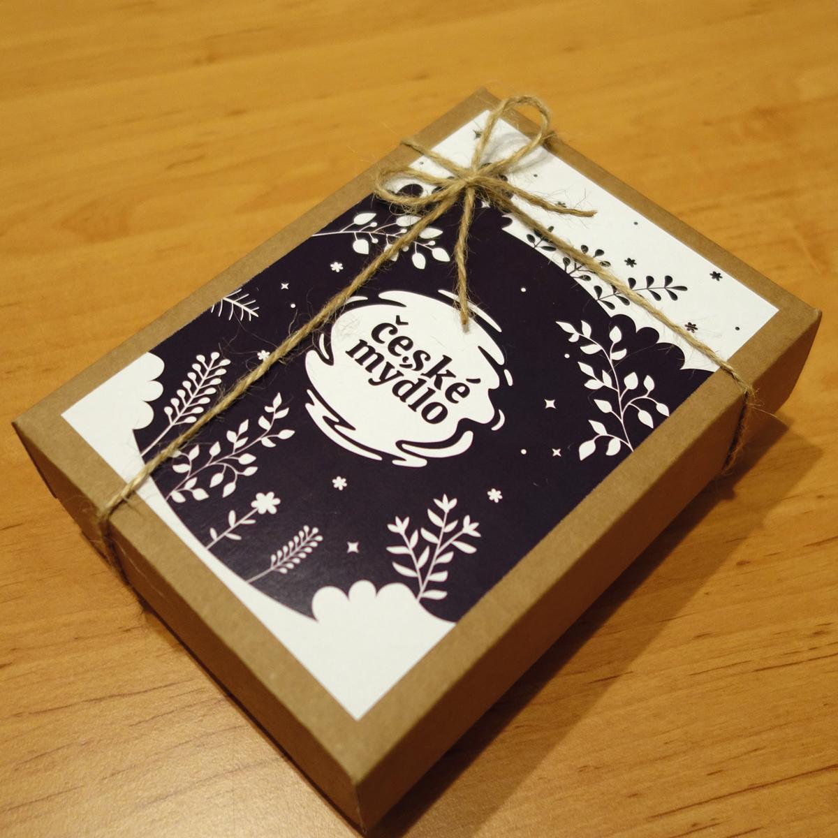České mýdlo - dárková krabice 12x17cm