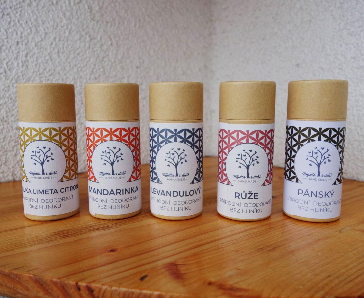 mýdla s duší deodoranty