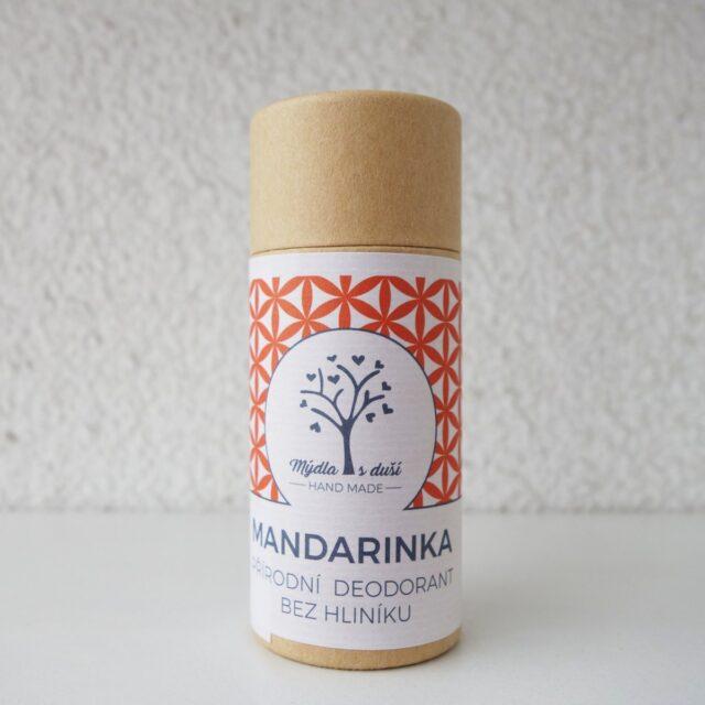 mýdla s duší - deodorant mandarinka