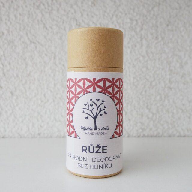mýdla s duší - deodorant růže